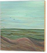 Summer Sand Dunes Wood Print
