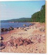 Summer Shores Of Lake Superior Wood Print