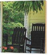 Summer Sitting Wood Print