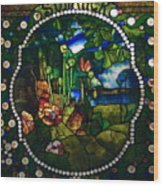 Summer Stained Glass Panel Wood Print