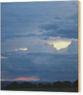 Summer Storm Moving In Corinna Maine  Wood Print