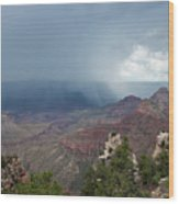 Summer Storm North Rim Grand Canyon National Park Arizona Wood Print