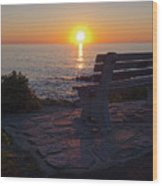 Summer Sunrise, Marginal Way, Ogunquit, Maine  -67904 Wood Print