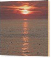 Summer Sunrise Rockport, Ma Wood Print