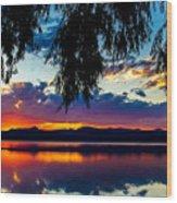 Sunset At Agency Lake, Oregon Wood Print