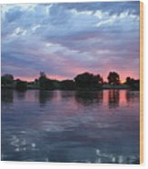 Summer Sunset On Yakima River 4 Wood Print