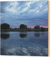 Summer Sunset On Yakima River 5 Wood Print