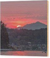 Summer Sunset Over Yukon Harbor.4 Wood Print