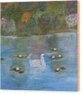 Summer Swan Wood Print