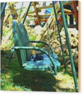 Summer Swing Wood Print