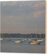 Summer Time At Little Neck Bay Wood Print