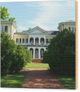 Summer Time At Sweet Briar House Wood Print