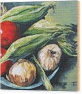 Summer Vegetables  Wood Print