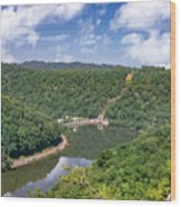 Summer View At Lovers Leap Wood Print