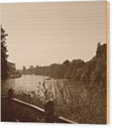 Summer View Of The River Thames Wood Print