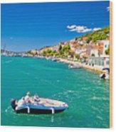 Summer View Of Tisno Coast Wood Print