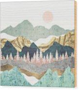 Summer Vista Wood Print