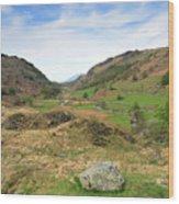 Summer, Watendlath Valley, Lake District National Park, Cumbria Wood Print