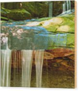 Summer Waterfall Wood Print