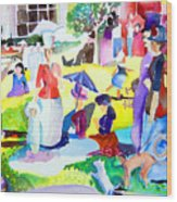 Summer With In The Park With George Wood Print