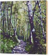 Summer Woods Wood Print