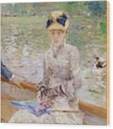 Summers Day Wood Print by Berthe Morisot