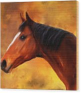 Summers End Quarter Horse Painting Wood Print