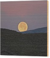 Summers Super Moon Two Wood Print