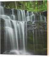 Summertime At Gunn Brook Falls Wood Print