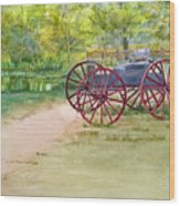 Summertime At The Barn Wood Print