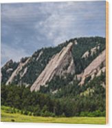 Summertime At The Flatirons Wood Print