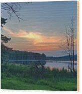 Summertime In Northern Michigan Wood Print