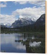 Summertime In Vermillion Lakes Wood Print