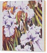 Summertime Irises Wood Print