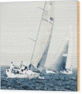 Summertime Race 1 Wood Print