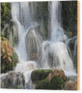 Summit Creek Waterfalls Wood Print