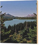Tagish Lake - Yukon Wood Print