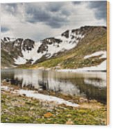 Summit Lake Study 3 Wood Print