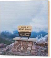 Summit Of Mount Evans Wood Print