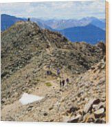 Summit On Mount Massive Summit Wood Print