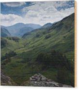 Summit View To Scaffell Wood Print