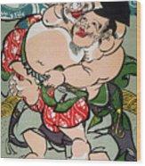 Sumo Wrestling Wood Print