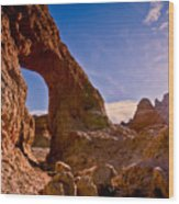 Sun And Arch Wood Print