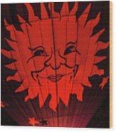 Sun And Fire Wood Print