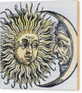 Sun And Moon, 1493 Wood Print