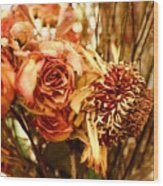 Sun And Rose Wood Print