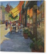 Sun And Shade On Amsterdam Avenue Wood Print