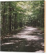 Sun And Shadow Road In Summer  C3pdl Wood Print