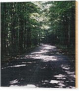 Sun And Shadow Road In Summer Imp Wc Wood Print
