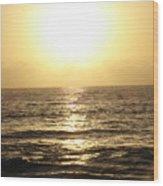 Sun At Sea Wood Print